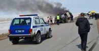 Автомобиль взорвался под Атбасаром - трое погибших