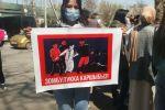 Митинг в Бишкеке после похищения и убийства девушки
