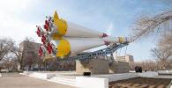Макет ракеты Союз в Байконыре
