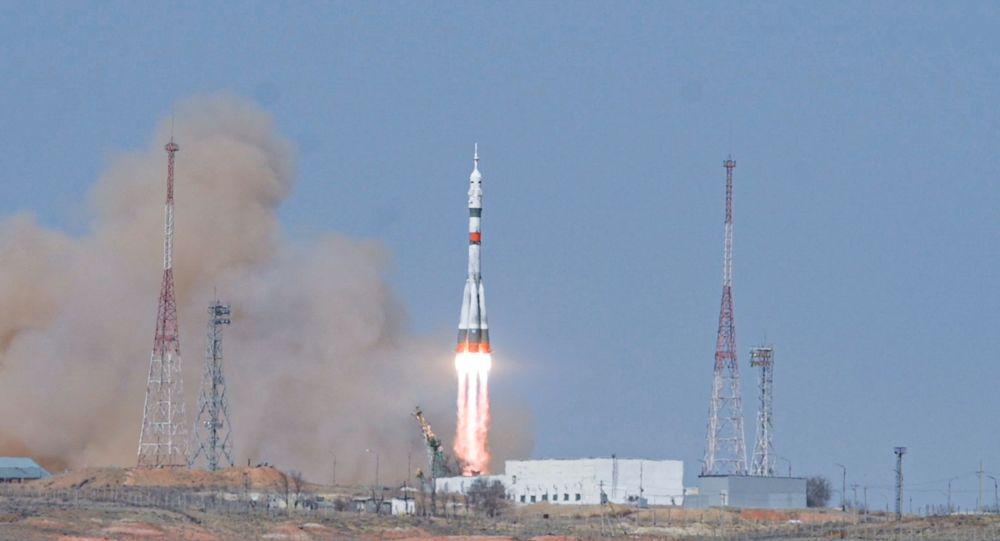 Запуск корабля Союз МС-18 Гагарин с Байконура