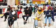 Вакцинация в ТРЦ Мега в Нур-Султане