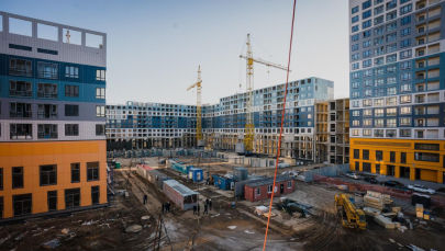 Строительство жилых домов в Нур-Султане