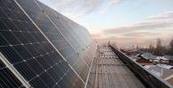 Солнечные панели на крыше дома Валерия Шишкина