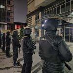 Полицейские у ЖК Бухар Жырау