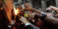 Схождение Благодатного огня в храме Гроба Господня