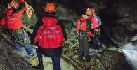 Спасательная операция республиканского оперативно-спасательного отряда в горах Алматы