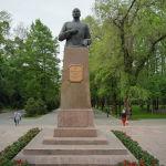 Кеңес Одағының батыры, генерал-майор Иван Панфиловтың бюсті