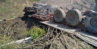Тела двух человек нашли в сгоревшем грузовике