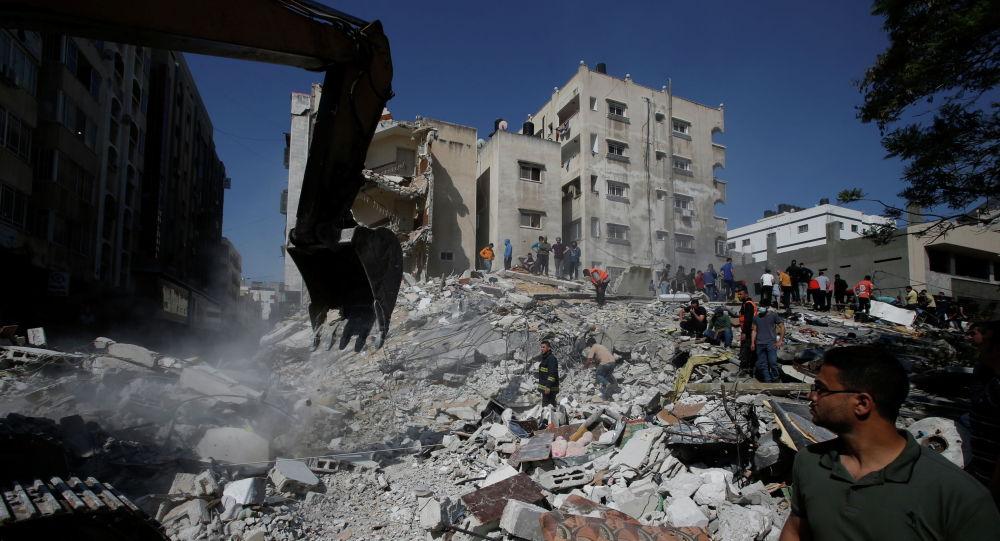 Разрушенные здания в секторе Газа