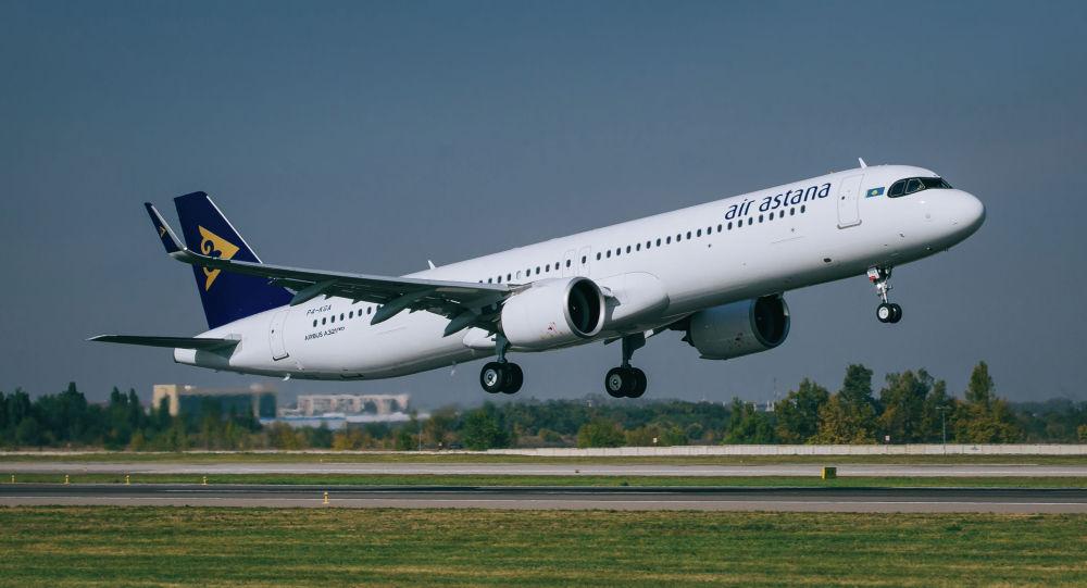 Airbus 321LR авиакомпании Air Astana