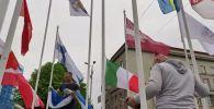 Война флагов в Риге
