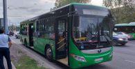 ДТП с автобусом на перекрестке Саина - Джандосова