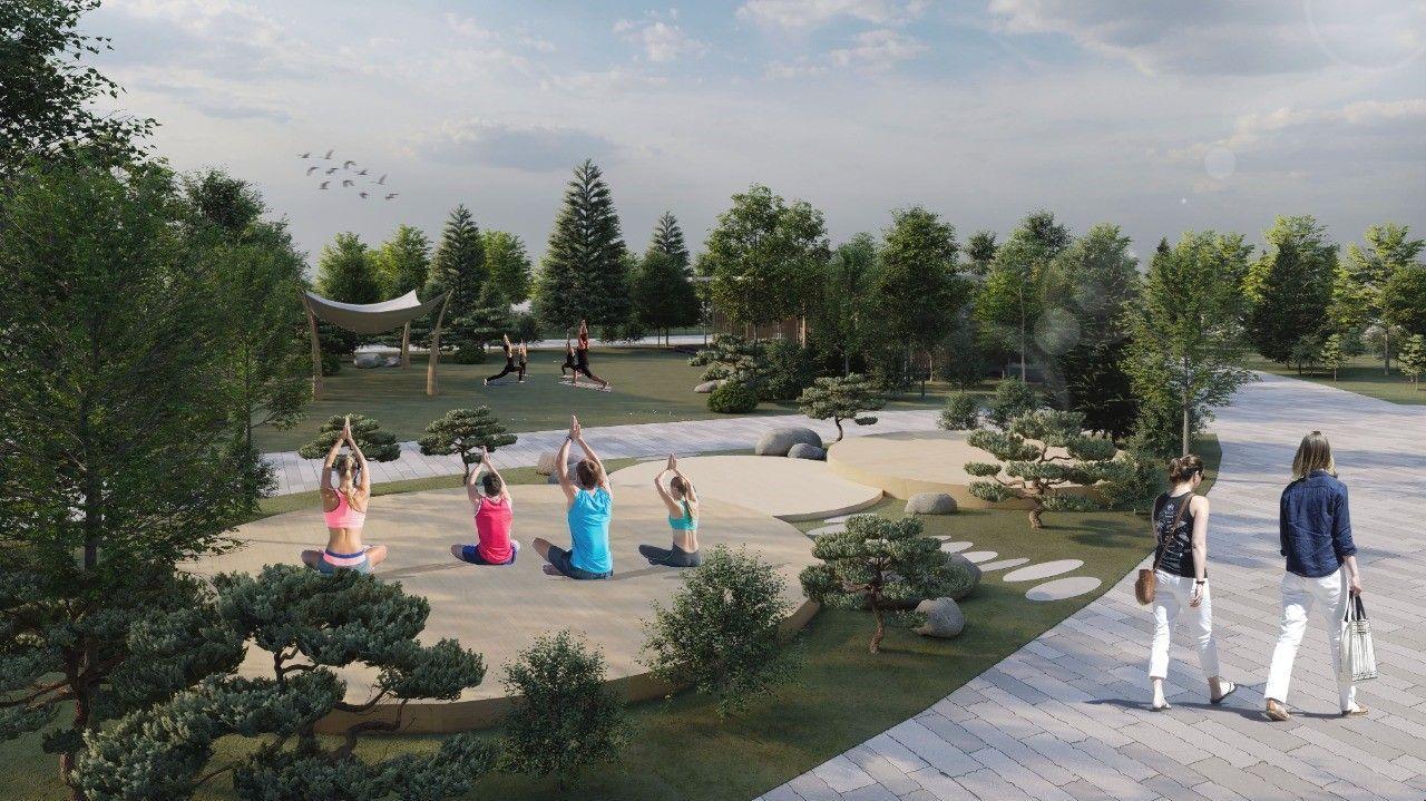 В Нур-Султане благоустроят парк имени Ататюрка. Там расположится специальная йога-зона