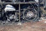 Жанып кеткен мотоциклдер