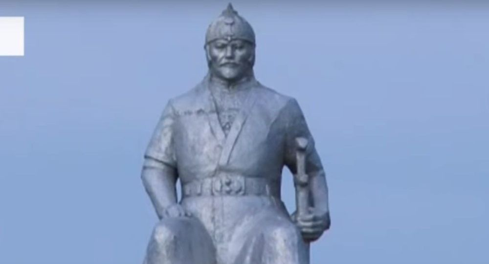 Памятник Кенесары хану в селе Мерке