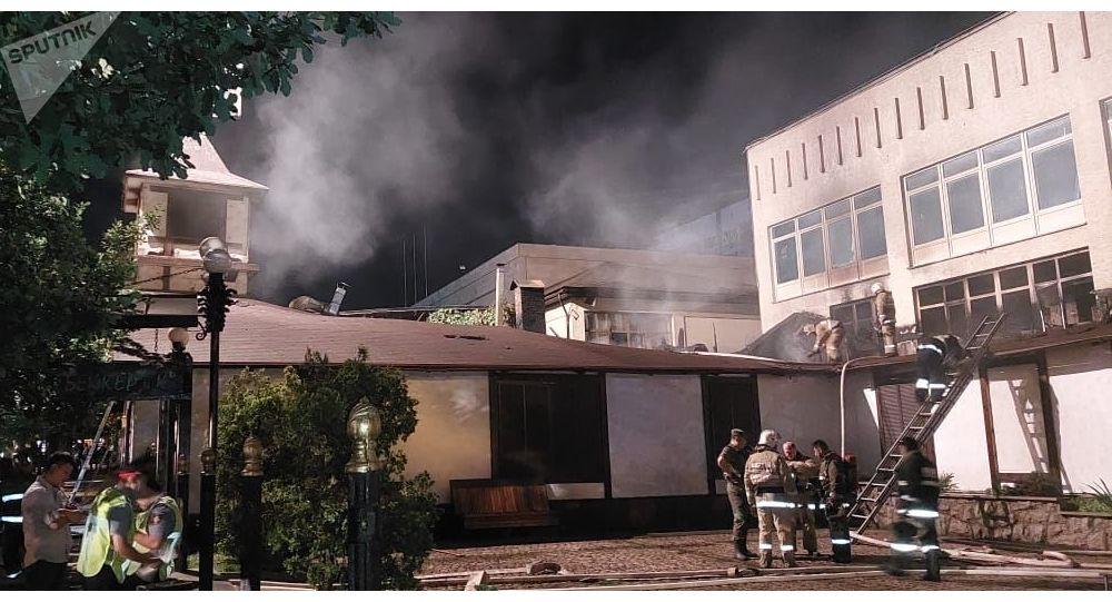 Пожар в кафе BRASS PUB