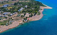 Озеро Иссык-Куль с высоты птичьего полета