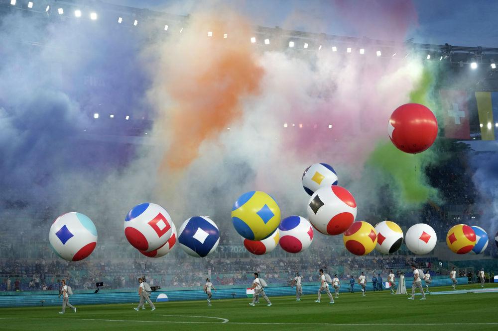 На церемонии открытия ЕВРО-2020