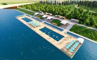 Новый пляж в Нур-Султане - эскиз