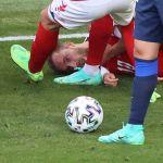 Кристан Эриксен упал на поле во время матча сборных Дании и Финляндии на ЕВРО-2020