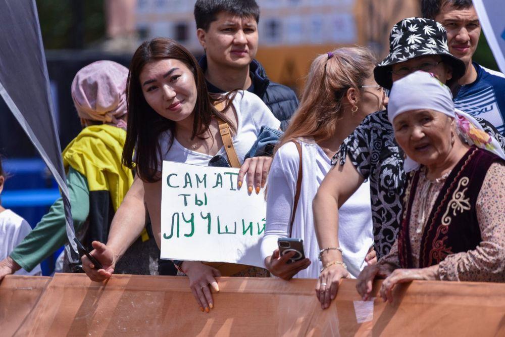 Поддержать участников пришли их родные и близкие