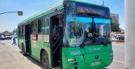 Два автобуса столкнулись по улице Толе Би