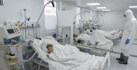 Палата интенсивной терапии в больнице с коронавирусом