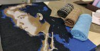Портрет Димаша выткали швеи в Нур-Султане