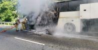 Столкновение автобусов на трассе Джубга-Сочи в Туапсинском районе