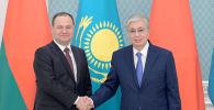Премьер-министр Беларуси Роман Головченко и президент Казахстана Касым-Жомарт Токаев