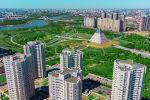 Столица Казахстана - город Нур-Султан. Вид сверху