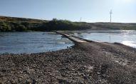 Река Есиль в Северном Казахстане