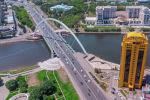 Мост через реку Ишим с правобережья на Левый берег столицы