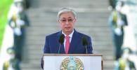 Касым-Жомарт Токаев принял участие в церемонии поднятия Государственного флага