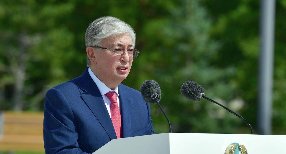 Касым-Жомарт Токаев принял участие в церемонии открытия памятника Елбасы Нурсултану Назарбаеву