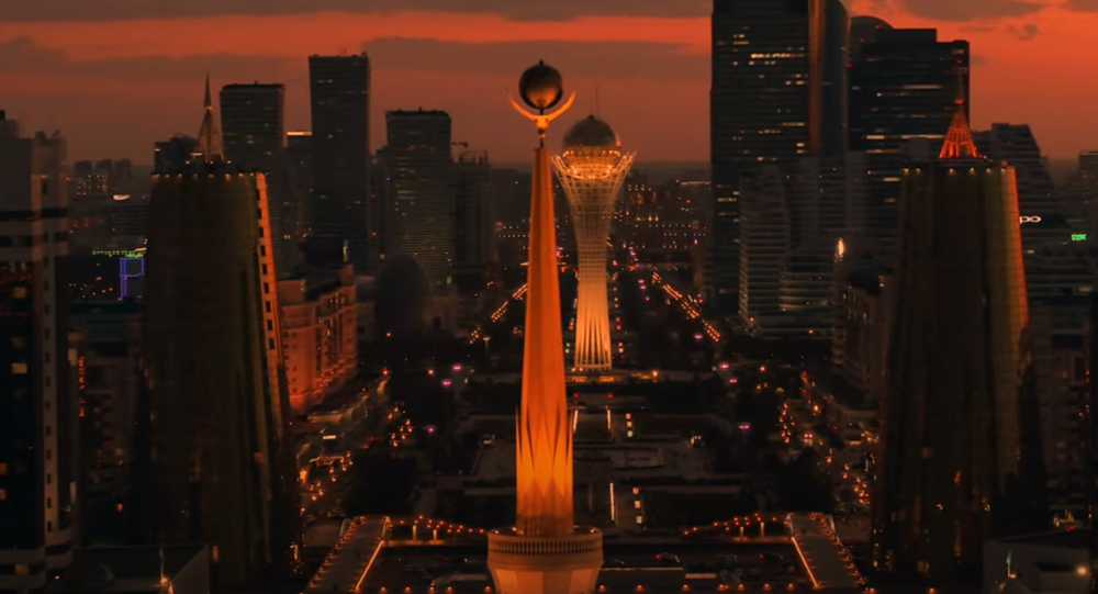 Виды Нур-Султана ночью, из трейлера фильма о Казахстане