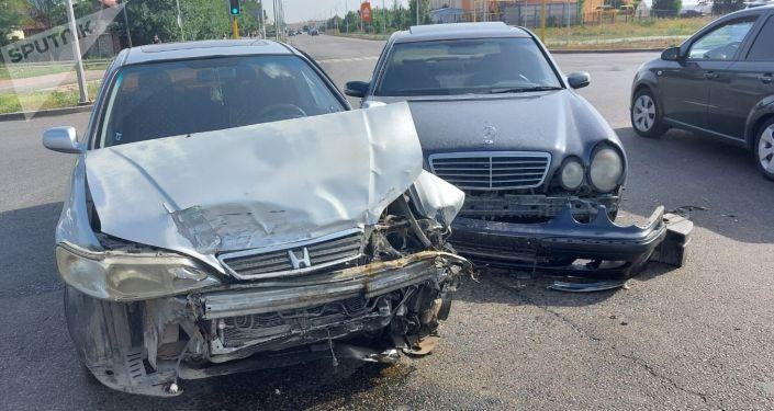 Тройная авария возле БАКа