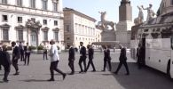 Италия приветствует в Риме национальную сборную по футболу