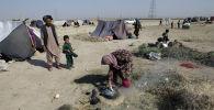 Палаточный лагерь афганских беженцев