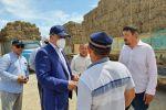 Ербол Карашукеев на встрече с аграриями