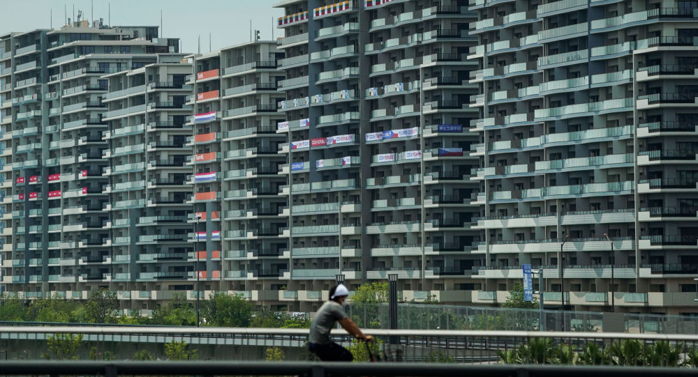 Небоскребы Олимпийской деревни в Токио