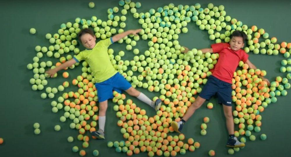 Юные теннисисты представили казахстанских участников Олимпиады