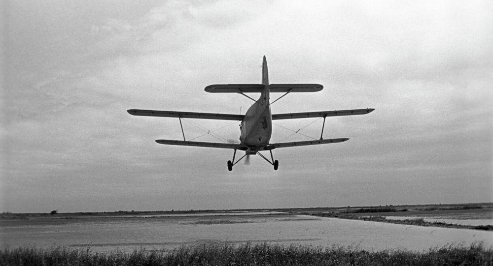 Самолет над полями
