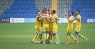 Фрагмент футбольного матча Астана - Арис