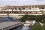Вид на стадион Токио во время старта Олимпийских игр