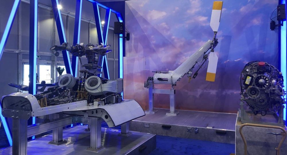 Стенд компании Еврокоптер группы АО НК Казахстан инжиниринг