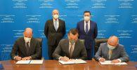 Глава Eni подписал в Казахстане ряд документов с КазМунайГазом и Казгеологией