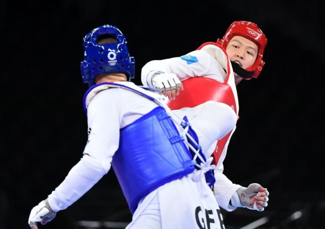 Таэквондист Руслан Жапаров на олимпийских играх в Токио-2020
