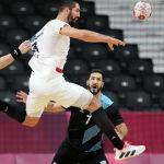 Момент гандбольного матча Аргентина - Франция на Олимпиаде