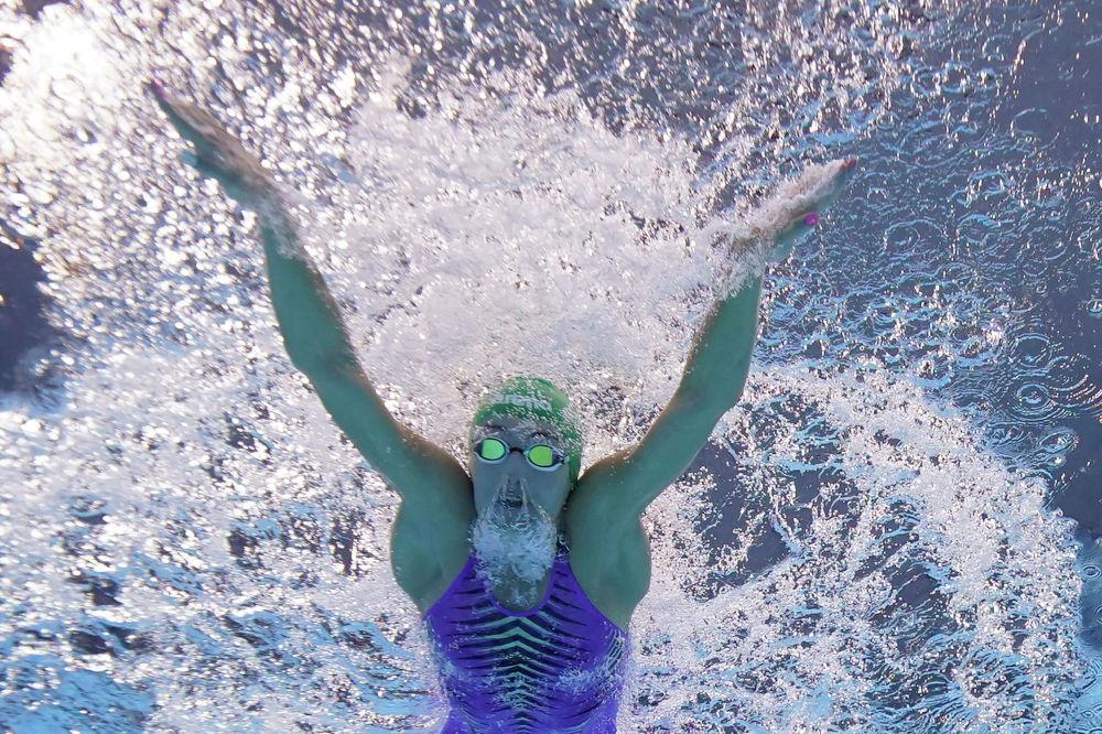 Татьяна Шоенмейкер на дистанции 100 метров брассом на Олимпиаде